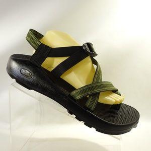 Chaco Sz 12 M Green Water Sport Sandals Mens B4 B9